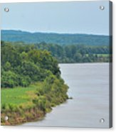 Landscape Along The Tennessee River At Shiloh National Military Park, Tennessee Acrylic Print