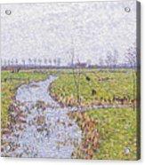 Landscape At Sluis Acrylic Print
