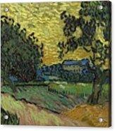 Landscape At Twilight Auvers Sur Oise June 1890 Vincent Van Gogh 1853  189 Acrylic Print