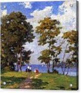 Landscape By The Shore Aka The Picnic Edward Henry Potthast Acrylic Print