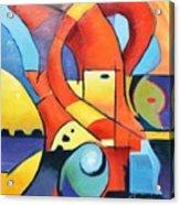 Landscape Figure Abstract Acrylic Print
