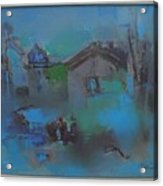 Landscape In Blue Acrylic Print