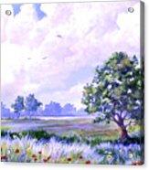 Landscape In Blues Acrylic Print