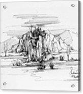 Landscape In Pen Acrylic Print