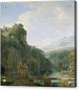 Landscape Of Ancient Greece Acrylic Print by Pierre Henri de Valenciennes