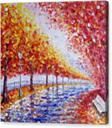 Landscape Painting Gold Alley Acrylic Print