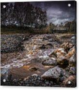 Landscape River And Bridge II Acrylic Print