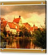 Landscape Scene - Germany L A With Decorative Ornate Printed Frame. Acrylic Print