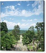 Landscape View From Preah Vihear Mountain In North Cambodia Acrylic Print