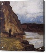 Landscape With A Figure Of His Brother Vasily Ivanovich Surikov Acrylic Print