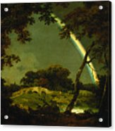 Landscape With A Rainbow Acrylic Print by Joseph Wright of Derby