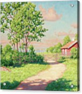 Landscape With A Red Cottage Acrylic Print
