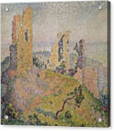 Landscape With A Ruined Castle  Acrylic Print by Paul Signac