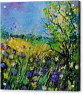Landscape With Cornflowers 459060 Acrylic Print