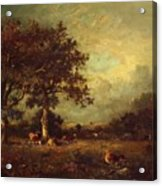 Landscape With Cows 1870 Acrylic Print