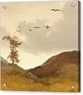 Landscape With Crows  Acrylic Print