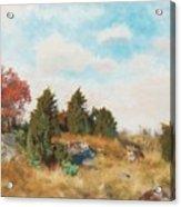 Landscape With Fox Acrylic Print