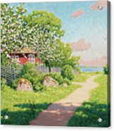 Landscape With Fruit Trees Acrylic Print