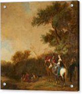 Landscape With Hunting Party Acrylic Print