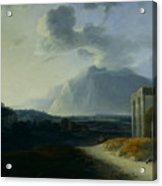 Landscape With Mount Stromboli Acrylic Print