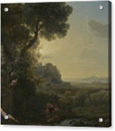 Landscape With Narcissus And Echo Acrylic Print