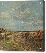 Landscape With Ploughmen Acrylic Print