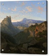 Landscape With The Castle Of Montsegur Acrylic Print