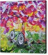 Landscape Women Bike Acrylic Print