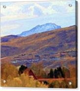 Landscape Wyoming State  Acrylic Print