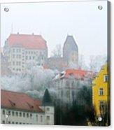 Landshut Bavaria On A Foggy Day Acrylic Print