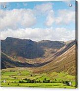 Langdale Fell And Pikes Panorama Acrylic Print