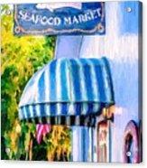 Lang's Marina Seafood Market Acrylic Print