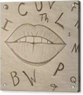 Language Of Speech Acrylic Print