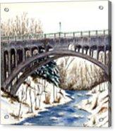 Lanterman Falls Bridge - Mill Creek Park Acrylic Print