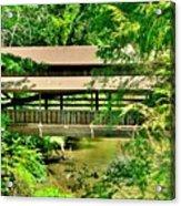 Lanterman's Mill Covered Bridge Acrylic Print