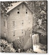 Lanterman's Mill In Mill Creek Park Black And White Acrylic Print