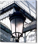 Lantern In Front Of The Crystal Palace, Madrid Acrylic Print
