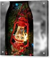 Lantern In Glass Jar Acrylic Print