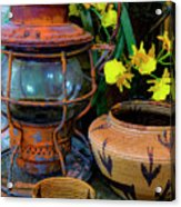 Lantern With Baskets Acrylic Print