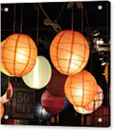 Lanterns 50 Percent Off Acrylic Print