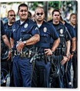 Lapd Safeguarding Lives Acrylic Print by Chris Yarzab