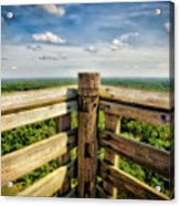 Lapham Peak Wisconsin - View From Wooden Observation Tower Acrylic Print