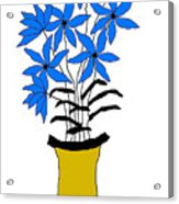 Blue Pointed Flowers Acrylic Print