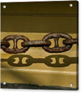 Large Rusted Chain And Its Shadow Acrylic Print