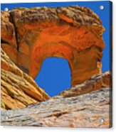Large Sandstone Arch Valley Of Fire Acrylic Print