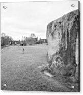 Large Sarsen Stone Part Of The Outer Ring Stone Circle Avebury Stone Circles Wiltshire England Uk Acrylic Print