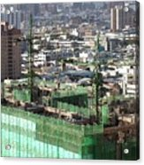Large Scale Construction Site Acrylic Print by Yali Shi