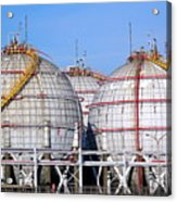 Large Spherical Sotrage Tanks Acrylic Print