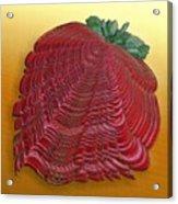 Large Strawberry Scallop Acrylic Print