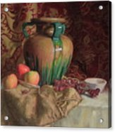 Large Vase With Apples Acrylic Print